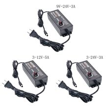Universal AC/DC Adapter 3-12V/3-24V/9-24V 60W LED Voltage Display US Plug for tools