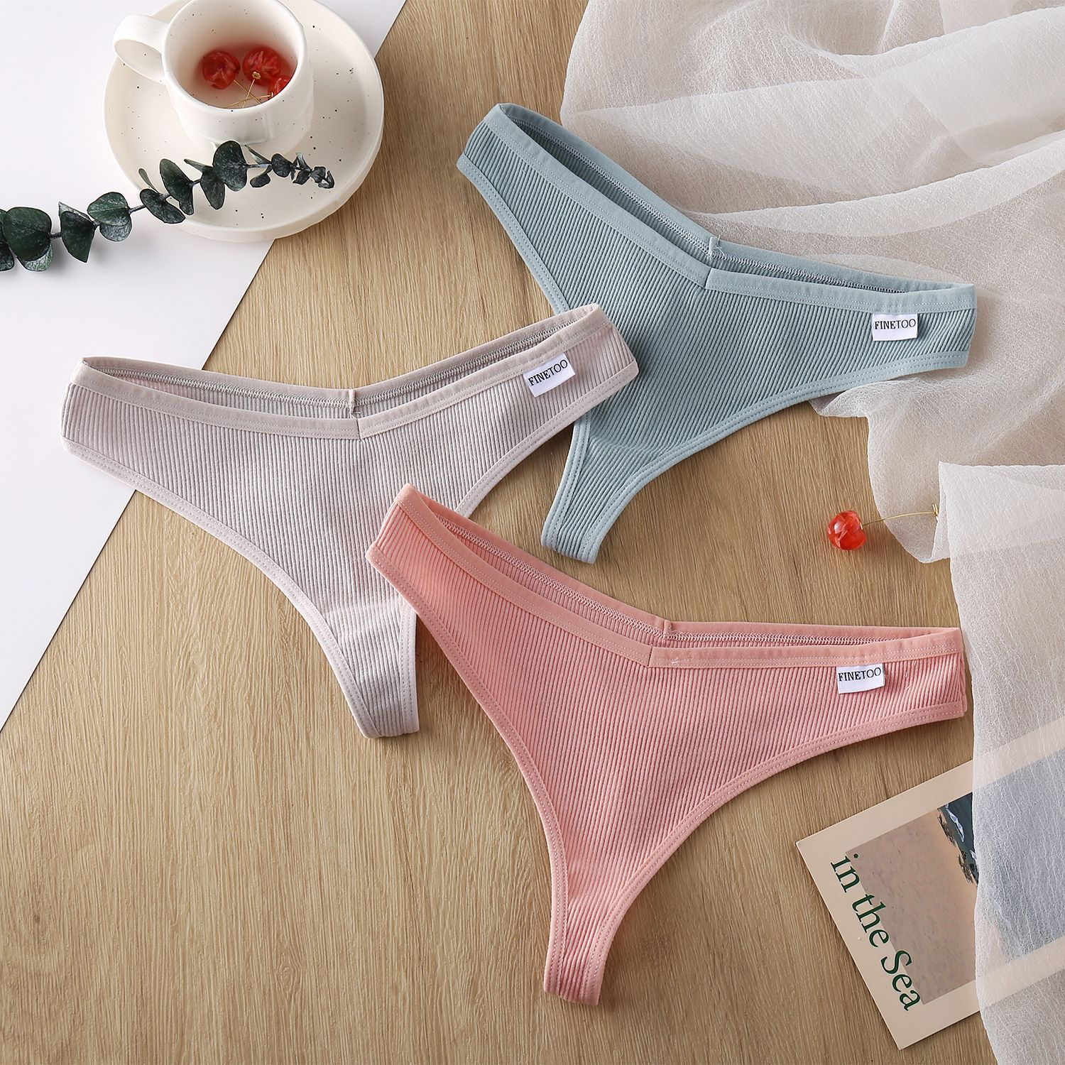 H7003e4779435450894ae9f711af98d9dz Fashion G-String Panties Cotton Women Underwear Sexy Panties Low-Rise Female Underpants Thong Solid Color Pantys M-XL Underwear