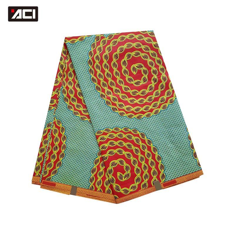 ACI véritable cire africaine Ankara tissus 6 Yards/pièce véritable cire africaine Tissu imprimé Tissu Africain Nigeria cire pour la fête