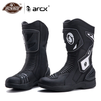 ARCX Waterproof Motorcycle Boots Cowhide Leather Botas Moto Motocross Boots Motorcycle Shoes Motorbike Riding Boots Protection