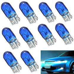 10 pièces T10 W5w 5w halogène ampoule voiture tableau de bord intérieur coin côté avant éclairage de parc