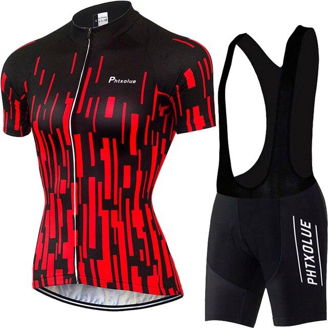 Phtxolue pro conjunto camisa de ciclismo mulher ciclismo wear mountain bike roupas da bicicleta mtb ciclismo roupas ciclismo terno 6