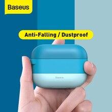 Baseus étui coloré pour Airpods Pro étui avec crochet TWS Bluetooth écouteur souple Silicone housse de protection pour Apple Airpods pro