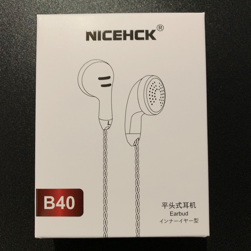 NICEHCK B40 3.5mm HIFI PK Earbud 14.8mm Dynamic Driver Unit Bass Earphone 32ohms ME80/EBX/EB2 VIDO PK1 PK2 PK3 SR2 BK Microphone image