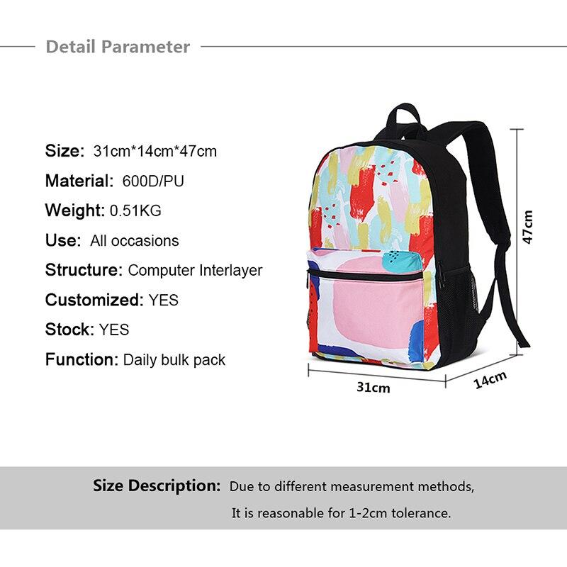 3 pièces ensembles Cartoon imprime cartable enfants cartables pour adolescente filles mignon Bookbag voyage école sacs à dos Mochila Infantil - 4