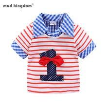 Mudkingdom/Одежда для маленьких мальчиков футболки дня рождения