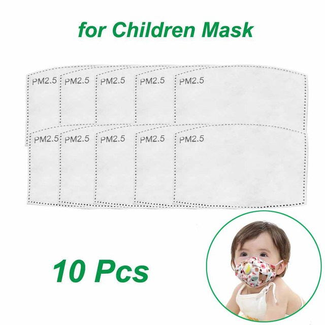 Kids Cotton PM2.5 Cute Cartoon Masks Mouth-Muffle Face-Shields with Breathing Valve And 2 Filters for 2-12 Years Old Children 5