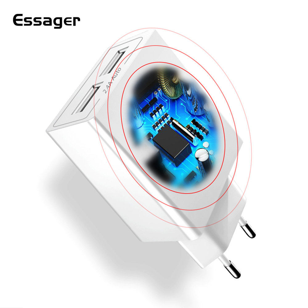 Usb-Charger Samsung S10 Xiaomi 9 Eu-Adapter Travel IPhone 2 For Dual New
