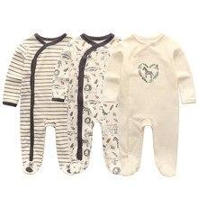 2021 algodão 1/3 pçs recém-nascido manga cheia outono bebê menino roupas macacão roupas da menina do bebê roupas de bebe meninas
