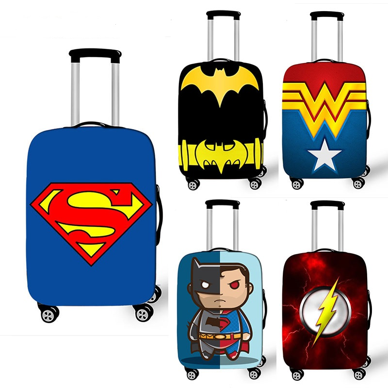 Comics Super Hero Luggage Cover Elastic Suitcase Protective Cover For 18-32 Inch Trolley Baggage Case Bag Travel Accessories