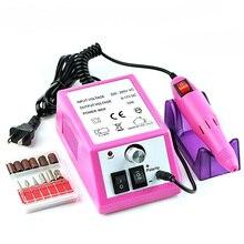 Электрическая дрель для ногтей, маникюрный станок, набор, 20000 ОБ/мин, фрезер, сверлильный аппарат, магнитный полировщик, шлифовальный инструмент для педикюра, ручка для ногтей
