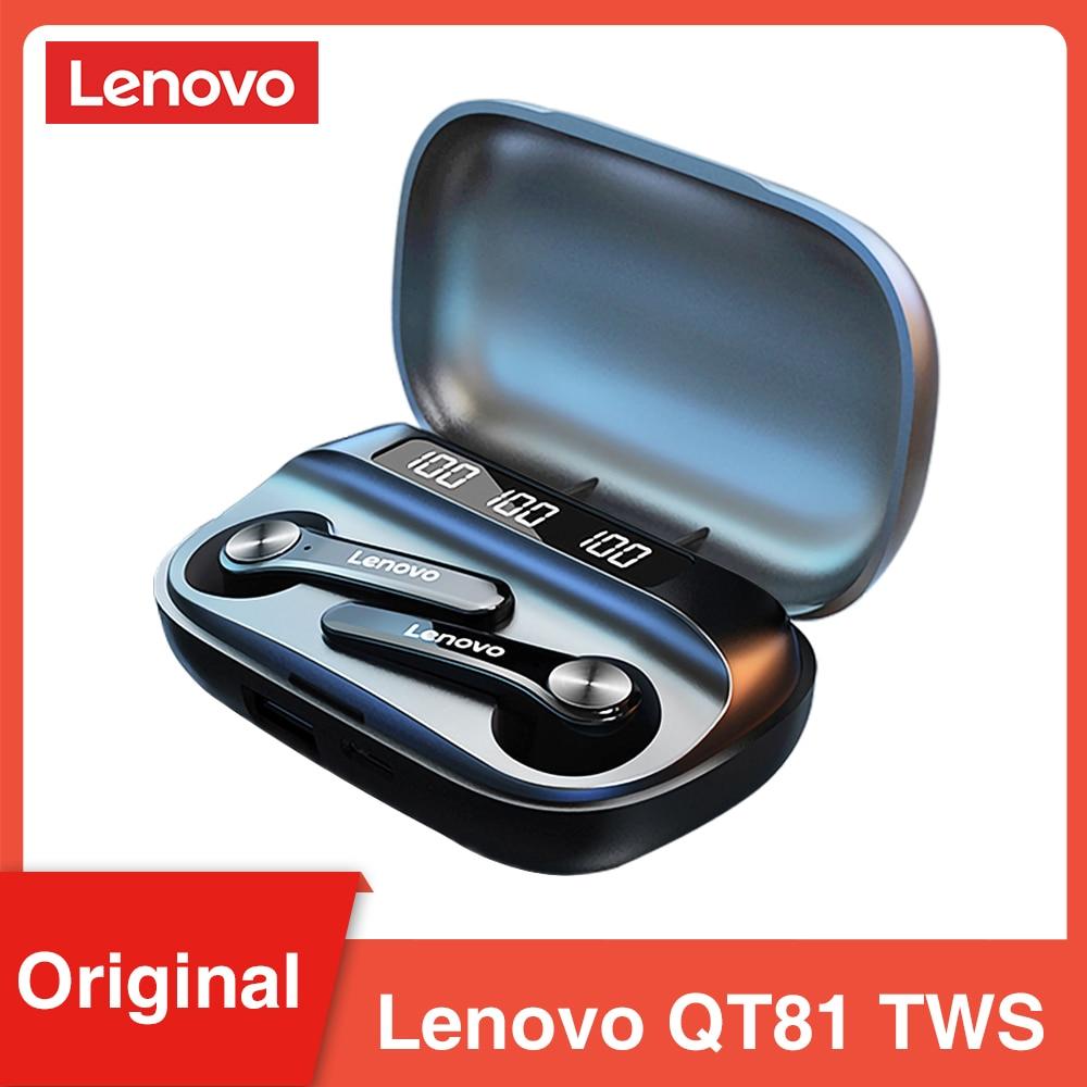 Lenovo qt81 tws bt5.0 baixa latência gaming sem fio fone de ouvido bluetooth estéreo baixo verdadeiro sem fio fones