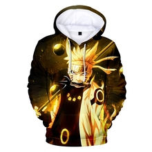New Naruto Mens 3D Print Cartoon Hoodie Fashion Pullover Casual Sports