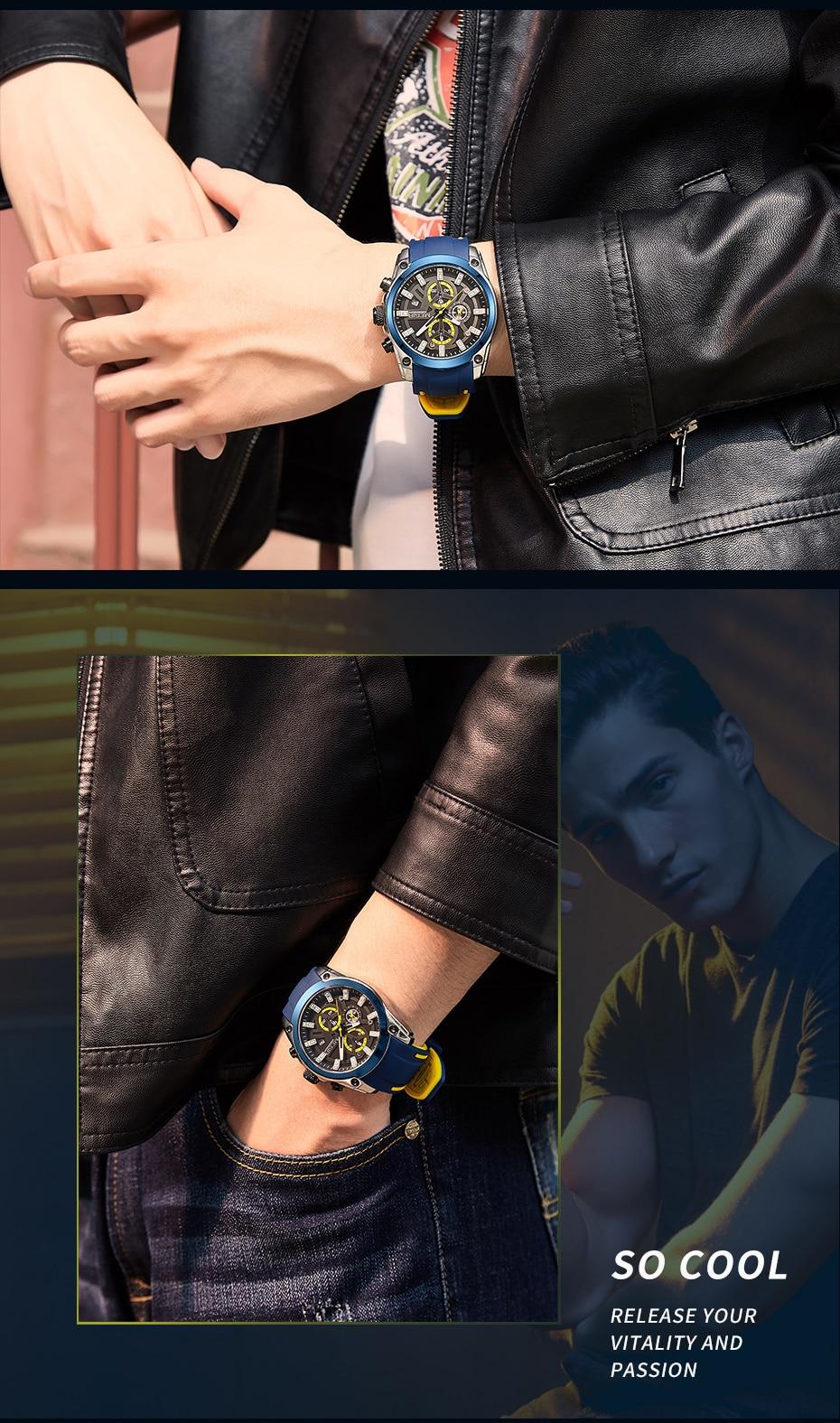 H7005306531d54bb4ad7219ebec342869K MEGIR 2020 Blue Sport Watches for Men