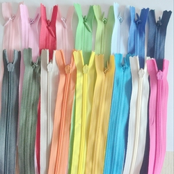 18pcs Colorful Nylon Invisible Coil Zippers Closed End Garment Accessories