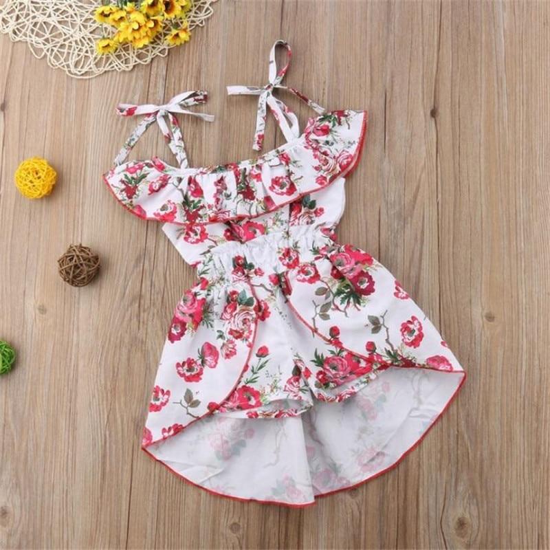 2020 Explosion Models Summer Children's Clothing Princess Straps Jumpsuit New Girls Suit Printing Straps Jumpsuit