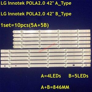 Image 4 - Led Backlight Strip 9 Lamp Voor Lg Innotek POLA2.0 Pola 2.0 42 Tv T420HVN05.0 T420HVN05.2 42LN5300 42LN5406 ZA 42LN5400 42LN5750