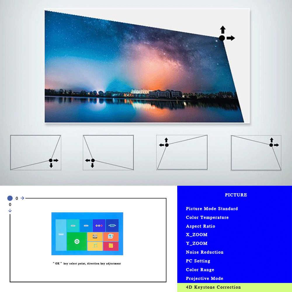 진짜 TV M8S 풀 HD 1080P 프로젝터 4K 7000 Lumens 시네마 비머 안드로이드 WiFi Airplay HDMI VGA AV USB 선물