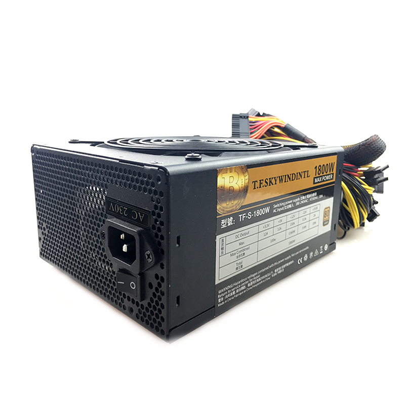 Купить с кэшбэком free ship Computer Mining Power 1800W psu PC Power Supply 12V 24PIN 8PIN for Miner High quality Power supply For BTC ETC ZEC
