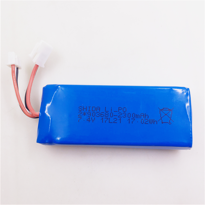 (in Stock) <font><b>7.4v</b></font> <font><b>2300mah</b></font> Li-po <font><b>Battery</b></font> For Wltoys Q323 Q323-b Q323-c Rc Quadcopter Spare Parts Accessories image