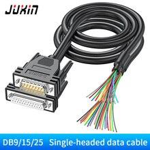 Adaptateur série RS232 DB9 DB15 DB25, câble de données à une tête, terminal 9 broches 15 25 broches, câble COM blindé
