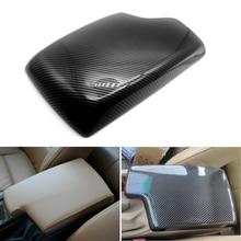 Car Carbon Fiber Texture Center Console Armrest Box Pad Protection Cover For BMW 3 Series E90 2005 2006 2007 2008 2009   2012