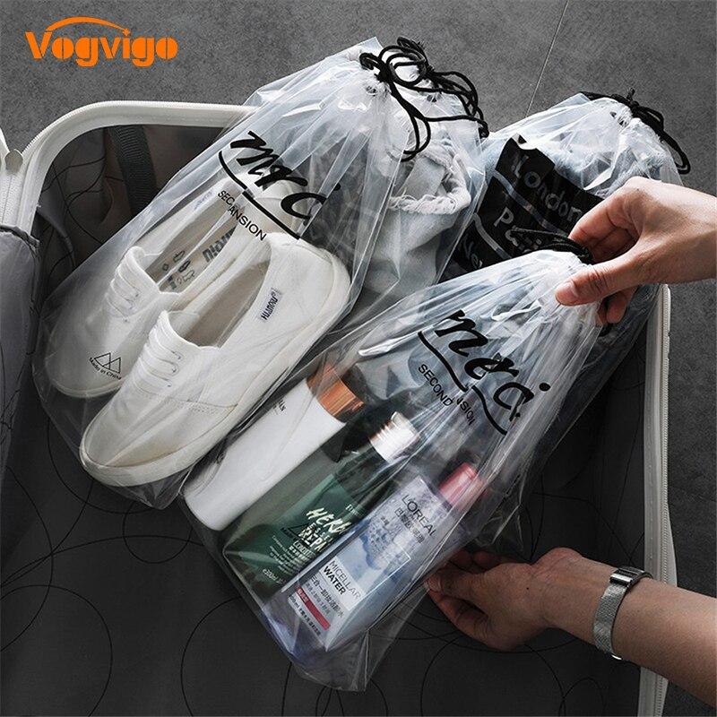 Vogvigo PortableTransparent Drawstring Storage Cosmetic Bag Waterproof Organizer Makeup Bags Travel Toiletry Case Accessories