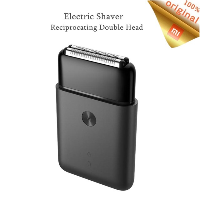 Xiaomi Afeitadora eléctrica Mijia para hombre, afeitadora de doble hoja, recargable tipo C, impermeable, portátil, inteligente