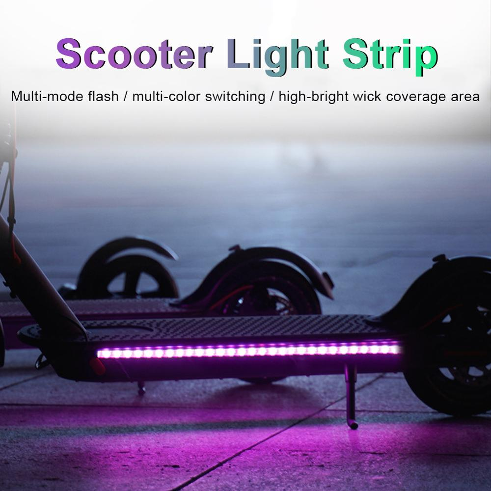 Предупреждение СВЕТОДИОДНАЯ лента фонарик бар лампа для Xiaomi M365 электрический скутер скейтборд Ночной свет аксессуары 2020