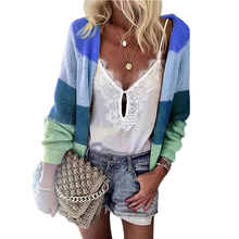 2019 Autumn New Womens Casual Cardigans Long Sleeve Open Front Loose Warm Cardigans Multi-Color Knitting Sweater Blouses white open front floral print cardigans