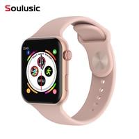 Soulusic F10 Bluetooth Смарт-часы ЭКГ монитор сердечного ритма iwo 8 lite умные часы для Android Apple xiaomi band 4 PK iwo 8 Plus 10