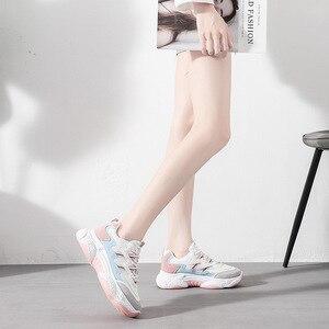 Image 3 - Zapatos de moda para mujer, nuevos zapatos de plataforma para otoño 2019, zapatos deportivos informales para mujer, zapatos transpirables de moda para mujer, tendencia salvaje, aumento