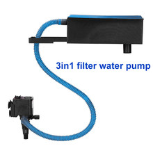 Aquarium fish tank submersible pump filter oxygen three-in-one upper filter small fish tank filter can be adjusted