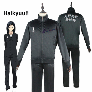 Anime Haikyuu Cosplay Jacket Haikyu Black Sportswear Karasuno High School Volleyball Club Uniform Costumes Coat