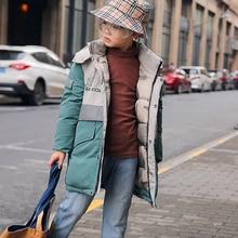 Kids Parka Outerwear Jacket Hooded-Coat Warm-Down Boy Winter Children New Cotton Thicken
