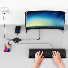 Cubo da estação de dex usb c completo hd 4k dispaly usb 3.0 usb tipo c adaptador para smartphone tablet portátil