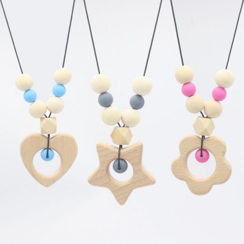NewBaby Teether Bracelet  Pendant Molar Stick Non Toxic Silicone Bite Stick Cute Cartoon Pattern Toy