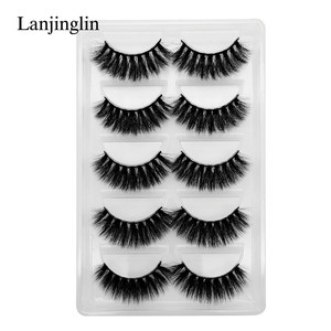 Image 5 - 5 Pairs 3D Eyelashes Hand Made Natural Long Faux Mink Lashes High Quality False Lash book Extensions Maquiagem Makeup cilios