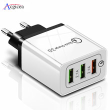 5V 3A USB Charger Quick Charge 3.0 QC 3.0 Snel Opladen Adapter 3 USB Mobiele Telefoon Oplader Voor iphone XR XS Max X 7 8 Laders(China)