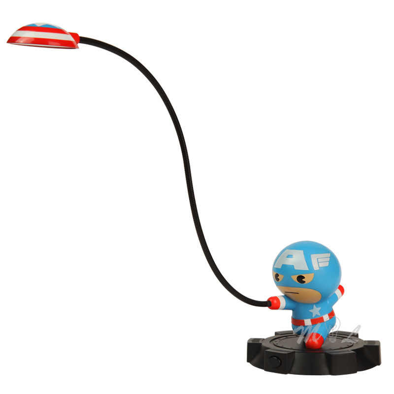 Marvel personagem dos desenhos animados usb luz da noite 5 w avengers led em qualquer lugar luz iluminador lâmpada de mesa das crianças lâmpada decorativa