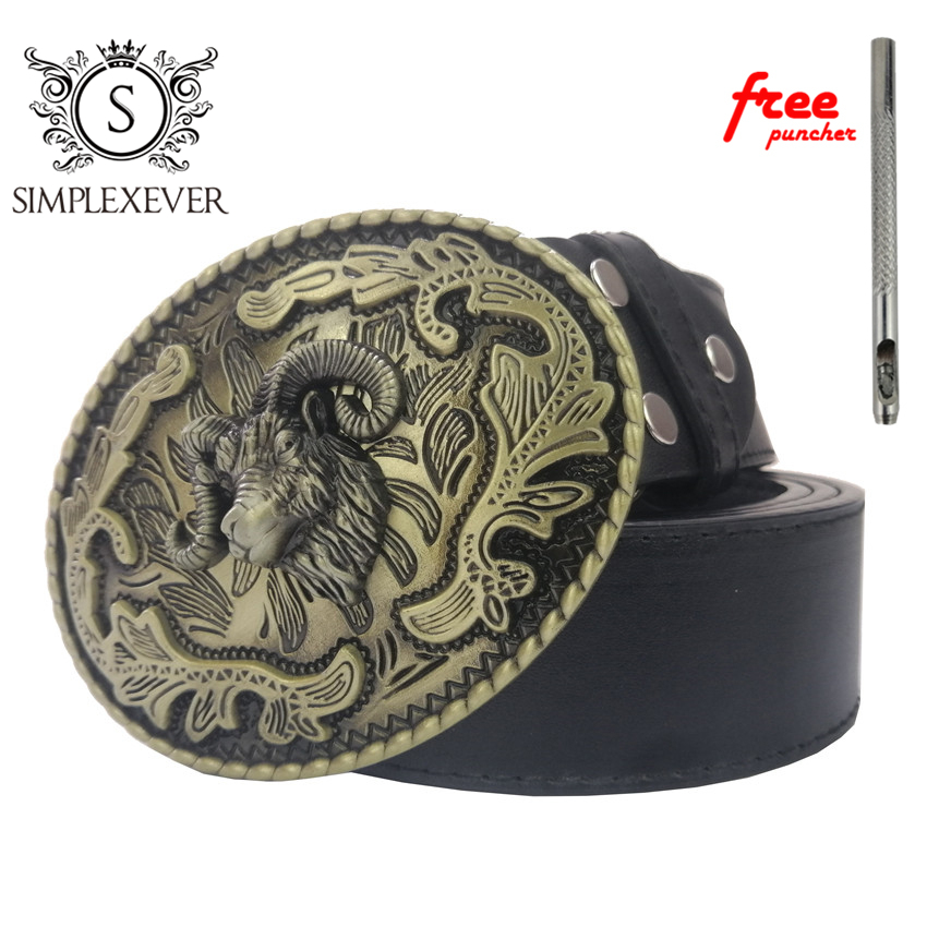 3D Bull Solid Brass Belt Buckle Western Metal Cowboy Belt Buckle With Leather Belt For Men Jeans Belt Buckle