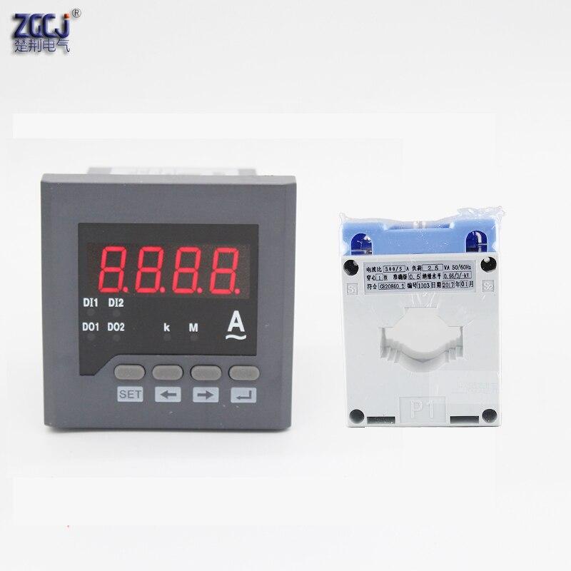 80*80*80 мм CJ-AA71-T диапазон 300A цифровой Интеллектуальный AC Ампер метр с RS485 связь Modbus-RTU протокол измеритель тока