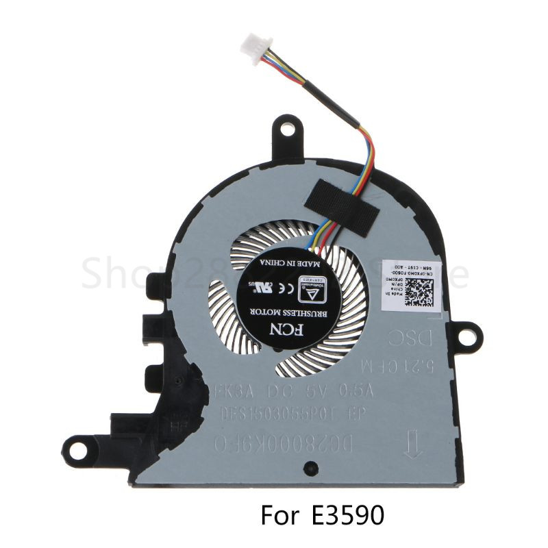 OOTDTY CPU Cooling Fan Laptop Fan Cooler Accessories Replacement for <font><b>Dell</b></font> Latitude <font><b>3590</b></font> L3590 E3590 for Inspiron 15 5570 5575 image