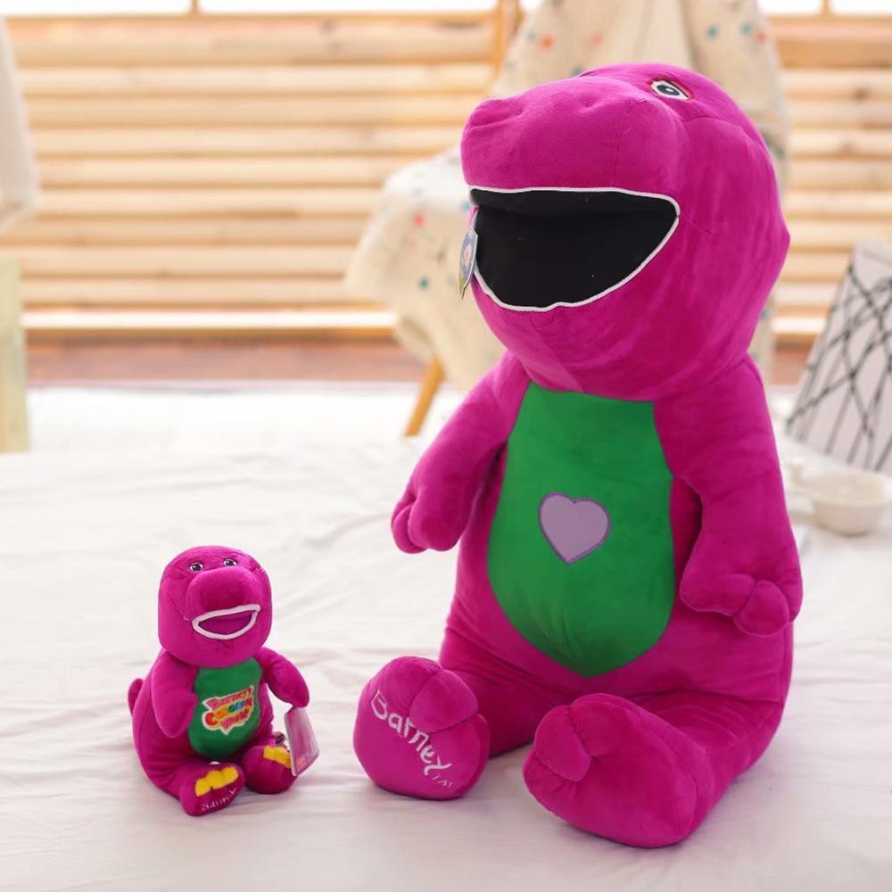 1pc 80cm Singing Friends Dinosaur Barney Plush Toys Soft Dolls Barney Dinosaur Plush Doll Toy Christmas Gift For Children