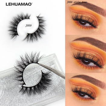 LEHUAMAO Eyelashes 3D Mink Lashes 100% Cruelty free Cross thick Mink Eye Lashes Natural long False Eyelashes Extension New 1Pair d008 1pair 100