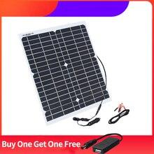 Car-Battery-Trickle-Charger Plug-Clamp Solar-Panel Cigarette-Lighter 12v 20w 18v