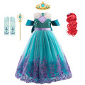 Детский Костюм Русалки Ариэль, платье принцессы для косплея, нарядный костюм на Хэллоуин, детская одежда для карнавала вечерние, летнее пла...