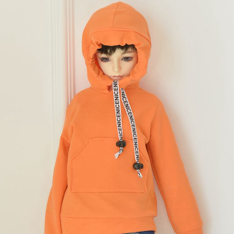 1/3 1/4 <font><b>1/6</b></font> <font><b>BJD</b></font> SD Doll <font><b>Clothes</b></font> Fashion Orange Rope Cap Sweatshirt DIY Doll Accessories Coat Clothing Girl Toy <font><b>Clothes</b></font> For Dolls image