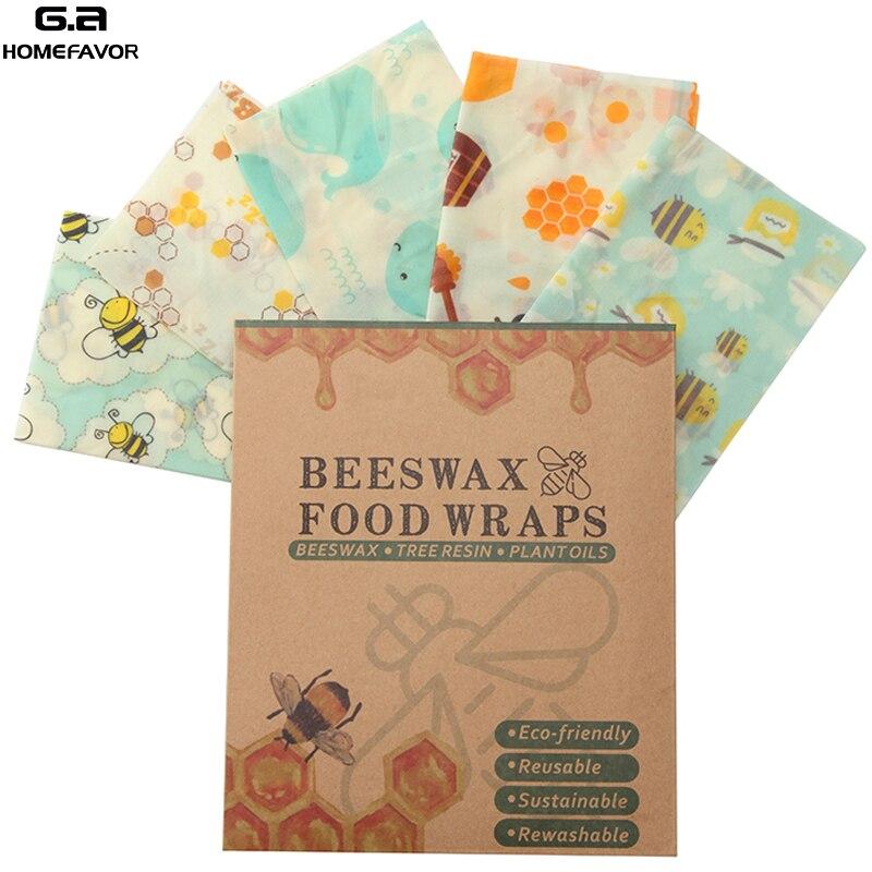 3 шт. пчелиный воск Еда обертывания многоразовые Еда Чехлы для хранения Экологичные моющиеся Еда обертывания ноль отходов