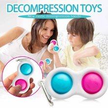 Mais novo dropshipping fidget simples dimple brinquedo gordura cérebro empurrar alívio do estresse brinquedos mão fidget para crianças adultos autismo especial needtoy